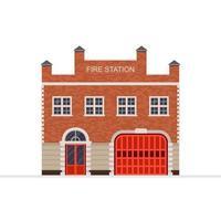bâtiment de la caserne de pompiers
