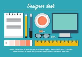 Illustration de bureau de conception gratuite vecteur