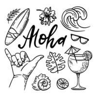 surf aloha mer vecteur
