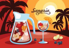 Sangria, boisson espagnole traditionnelle vecteur