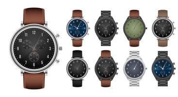 ensemble de montre à main réaliste vecteur