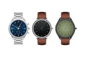 montre-bracelet réaliste isolée vecteur