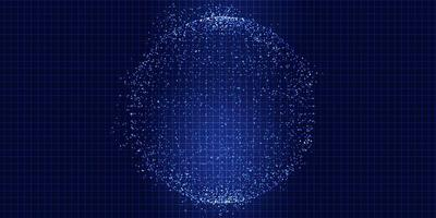 sphère de points techno vecteur