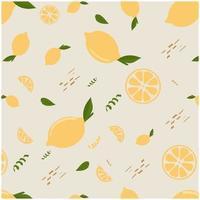 fond de motif citron dessiné à la main vecteur