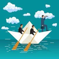 leadership d'entreprise et concept visionnaire vecteur