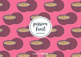 Vector de motif de fruits de la passion