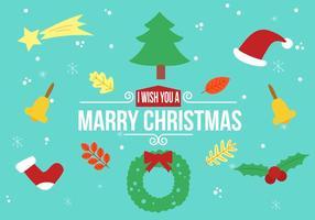 Éléments de Noël vectoriel gratuits