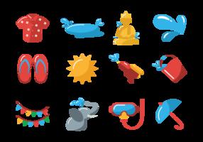 Icônes vectorielles songkran