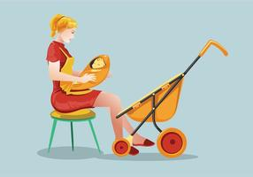 Vecteur babysitter