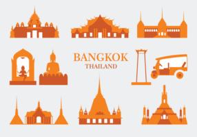 Icônes vectorielles de Bangkok vecteur