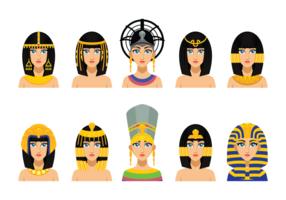 Cleopatra Reine égyptienne vecteur