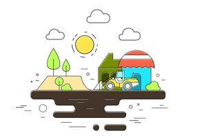 Illustration vectorielle de construction vecteur