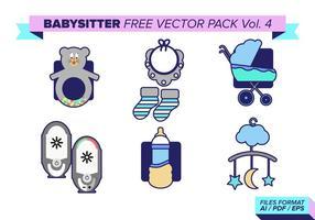 Paquet vectoriel gratuit pour baby-sitter vol. 4
