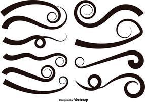 Ensemble de 10 Swishes - éléments vectoriels