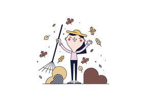 Vector des feuilles d'automne