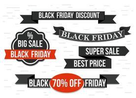 Rubans vectoriels Black Friday gratuits vecteur