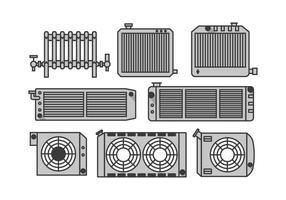 Vecteurs de radiateur vecteur