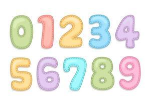 numéros de l'alphabet bébé vecteur