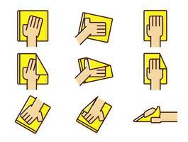 Vector Hand Wipe Icône