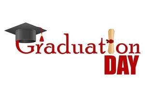 jour de remise des diplômes isolé