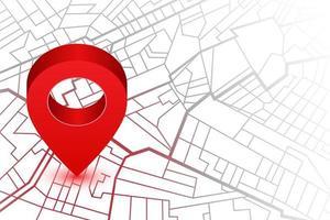 broche de localisation sur la carte du navigateur gps