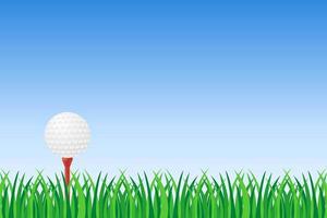 balle de golf sur l'herbe verte vecteur