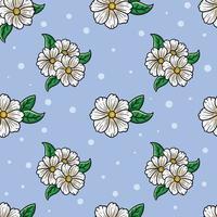 modèle sans couture de fleur blanche