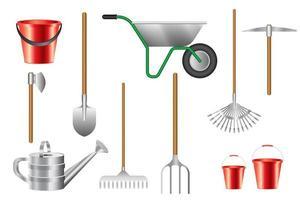 collection d'outils de jardinage isolé