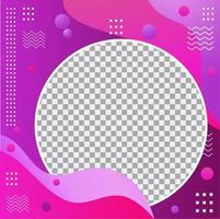 conception de cadre photo de profil moderne violet et rose vecteur