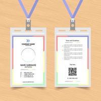 modèle de carte d'identité de section colorée