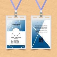 carte d'identité de croix bleue et blanche