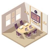 composition isométrique de la salle de réunion