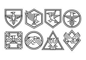 Vecteurs d'insignes de l'aigle vecteur