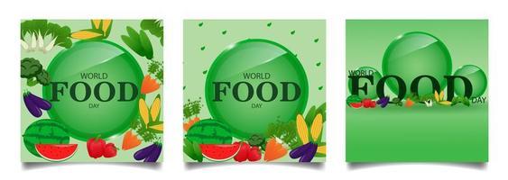 flux de médias sociaux carrés pour la journée mondiale de l'alimentation