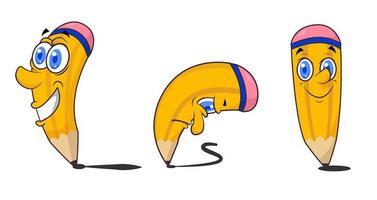 personnages de crayon mignon vecteur