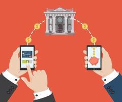transaction bancaire mobile vecteur