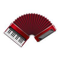 bel accordéon réaliste vecteur