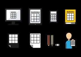 Icônes de Sudoku vecteur
