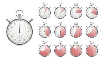 ensemble de chronomètres réalistes isolés