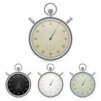 chronomètres vintage isolés