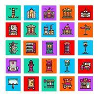collections d'icônes d'élément de ville partie 1