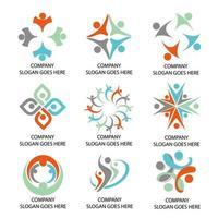 logos d'entreprise sociale vecteur