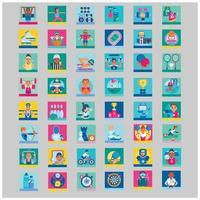 collection d'icônes de sport vecteur