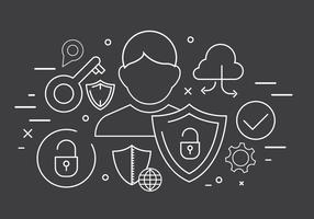Icône de technologie vectorielle gratuite et icônes de sécurité vecteur