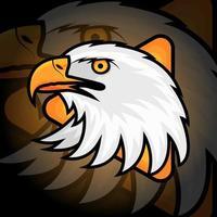 mascotte tête d'aigle vecteur