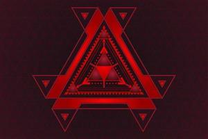 conception de technologie abstraite triangle rouge et noir dégradé