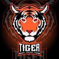 mascotte tête de tigre vecteur