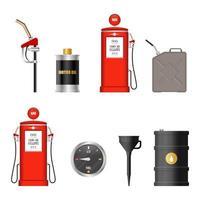 équipement de carburant isolé vecteur