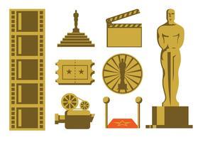 Pack d'icônes de cinéma vecteur