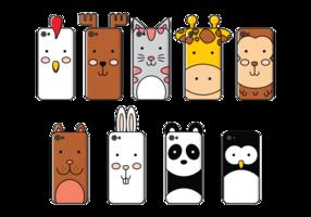 Étui pour téléphone Cartoon Animals vecteur